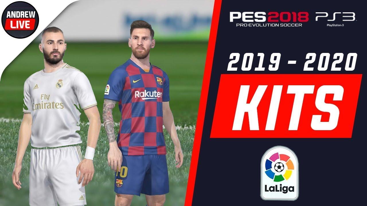 PES 2018 PS3 La Liga 2019/2020 Kitpacks by AndrewPES Update