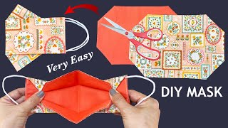 New Style Very Easy 3D Mask Diy Breathable Face Mask No Fog On Glasses Easy Pattern Sewing Tutorial