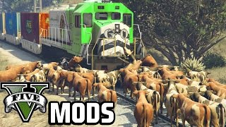 Crazy Cows and Deadly Birds! - GTA 5 PC Mods (Animal Mods)