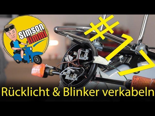 Simson S51 Neuaufbau Teil 17 Rücklicht & Blinker verkabeln