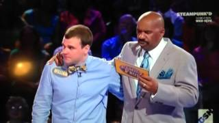 Family Feud caught cheating!!!!!!  Steve Harvey plays along!