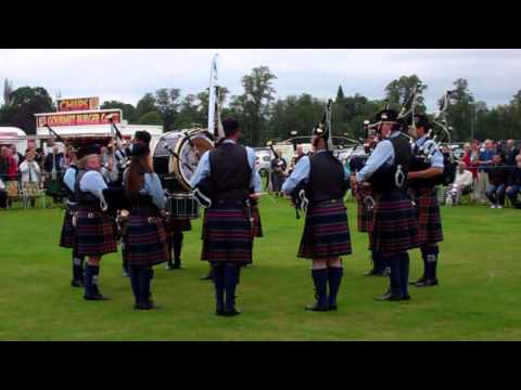 Pipe Band Competition Highland Games Perth Scotland