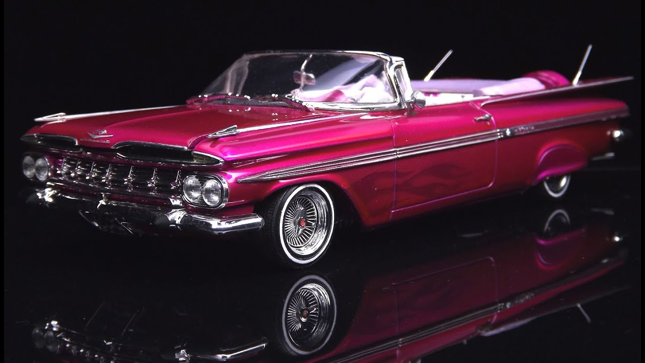chevy impala 59 lowrider - revell 1  25  plastimodelismo