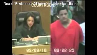Crazy prisoner abuses judge in court!