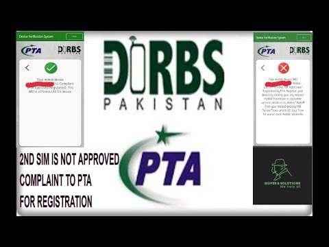 ONE SIM APROVE AND SECOND SIM NOT APPROVED COMPLAINT TO PTA