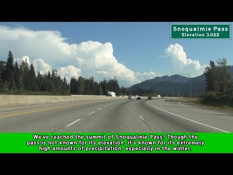 Interstate 90 Eastbound over Snoqualmie Pass in Washington