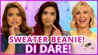 DIY SWEATER BEANIE?! Di Dare w/ Cassie Diamond, Paris Berelc, Isabel May