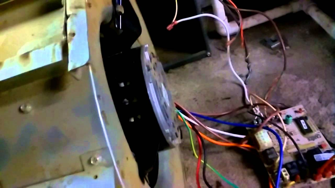How to replace a blower motor on a goodman furnace part for How to install a blower motor in a furnace