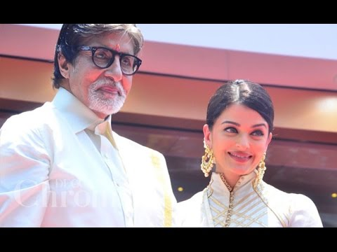 Amitabh Bachchan and Daughter in law Aishwarya Rai in Chennai