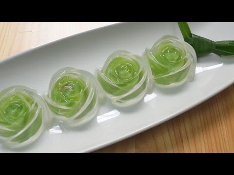 Cách làm thạch rau câu hoa hồng 2 lớp siêu đẹp