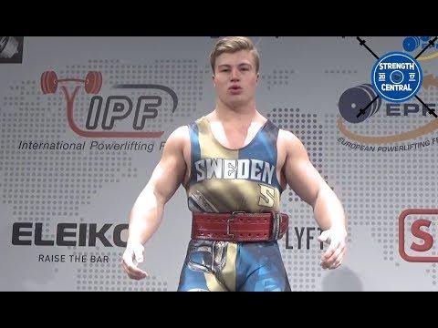 Emil Norling - 1st Place 105 Jr - EPF Classic Championships 2018 - 830 kg @ 22 yo