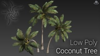 Low Poly Coconut Tree : Part 1 - Basic Modeling