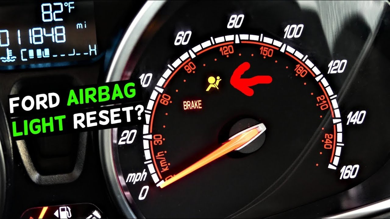 HOW TO TURN OFF AIRBAG LIGHT ON FORD with NO TOOLS Air Bag Reset