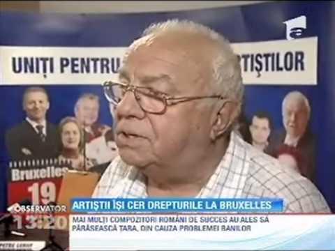 Antena 1  Observator  Drepturile artistilor din Romania  Europarlamentarul Petru Luhan   07 06 2013