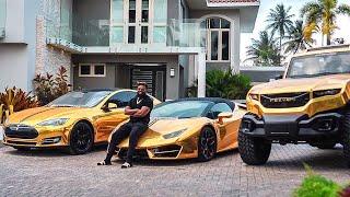 Kevin Thobais Car Collection - Gold Car Collector   Miami Millionaire