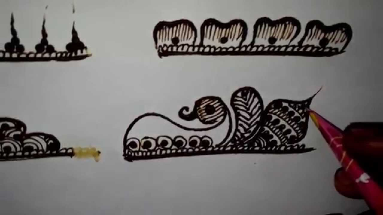 Mehndi Patterns Basic : Basic mehendi designs youtube