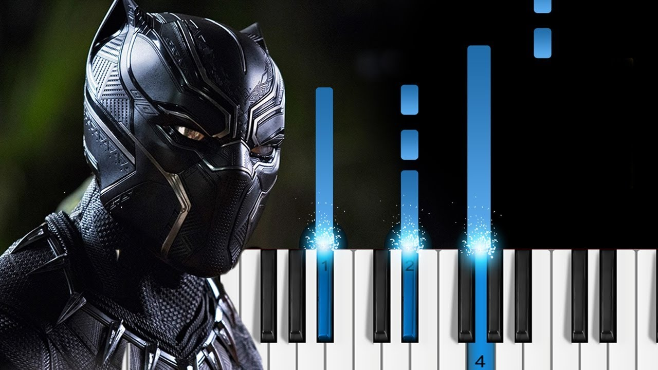 Kendrick Lamar - Black Panther - Piano Tutorial - YouTube