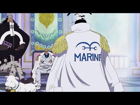 Kuma informs Sengoku about Moria's defeat