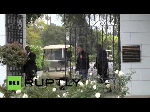 USA: L'Wren Scott funeral held at Hollywood Forever Cemetery