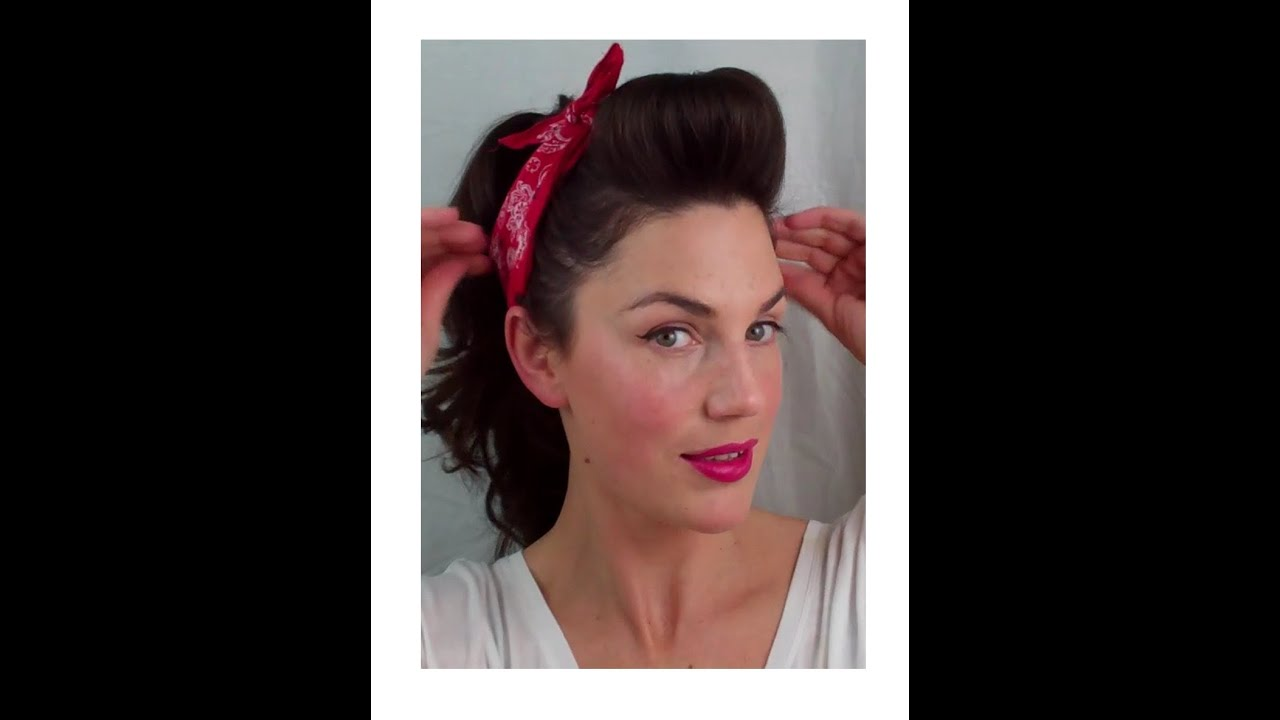 1950s Pin Up Hairstyles for Long Hair