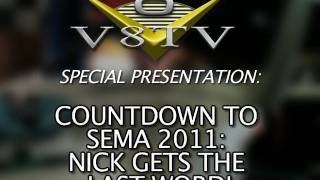 1968 Camaro Countdown to SEMA 2011 V8TV Video:  Be Cool Radiator& Nick's Last Word