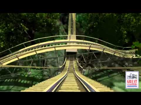 InvadR Point-of-View Animation| Roller Coaster POV | Busch Gardens