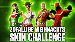 ZUFÄLLIGE WEIHNACHTSSKIN CHALLENGE! 🎅 | Fortnite: Battle Royale