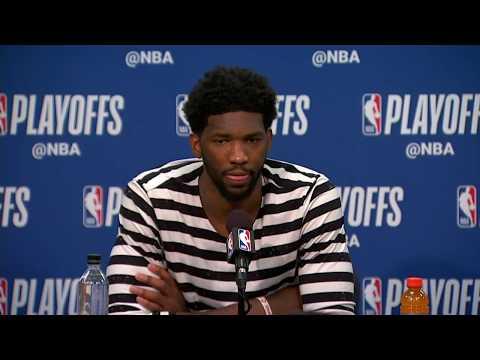 Joel Embiid Postgame Interview   Celtics vs Sixers Game 3