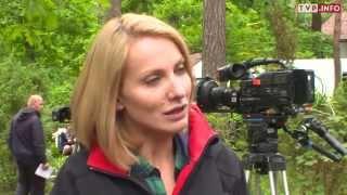 Йоанна Моро на съемках сериала