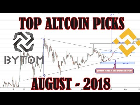 TOP ALTCOIN PICKS | 18 August 2017-2018 | Binance Coin, Bytom Coin