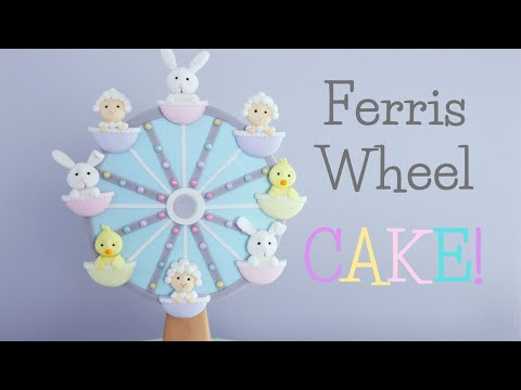 Spring/Easter Ferris Wheel Baby Shower Cake Tutorial!