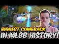 THE GREATEST COMEBACK IN MLBB HISTORY   LESYLEY 100% WINRATE   MOBILE LEGENDS