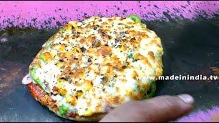 How to Making of Corn Pizza     Kamoti Secter 21  MUMBAI STREET FOOD  4K VIDEO