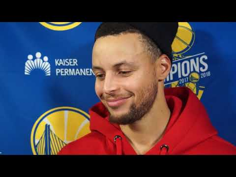 Stephen Curry 42 points postgame interview \ Cavs vs. Warriors