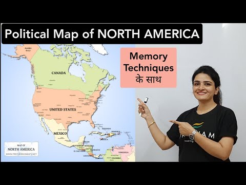 World Map: NORTH AMERICA Political Map - Learn all countries on map