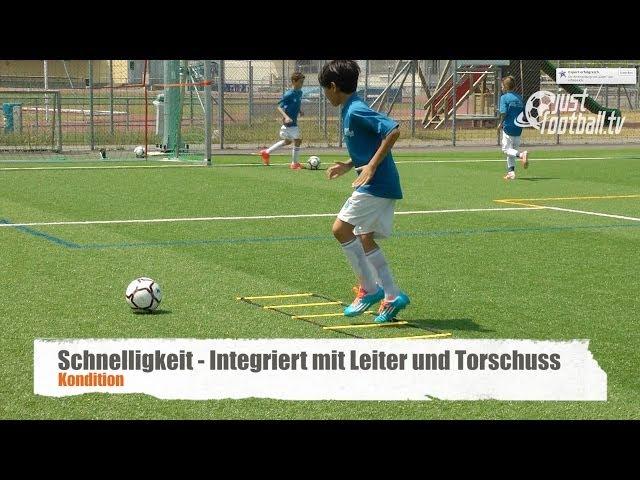 Fussballtraining Schnelligkeit Und Torschuss Koordination