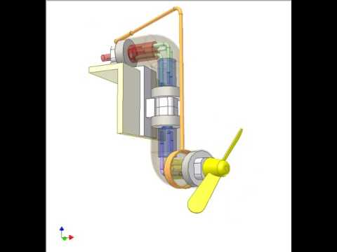 Azimuth thruster with Hobson's joints