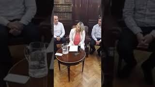 Conferencia Gobernadora Rosana Bertone tras reunión con el Presidente Mauricio Macri