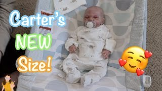 Carter's New Size! Reborn Baby Caleb Gets New Oufit!   Kelli Maple