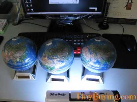 Fashion Solar Powered Rotating World Globe Teaching tools model [011959]