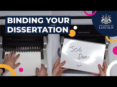 How To Bind Your Dissertation | University of Lincoln Library