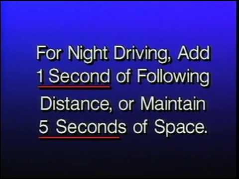 Safe Following Distance