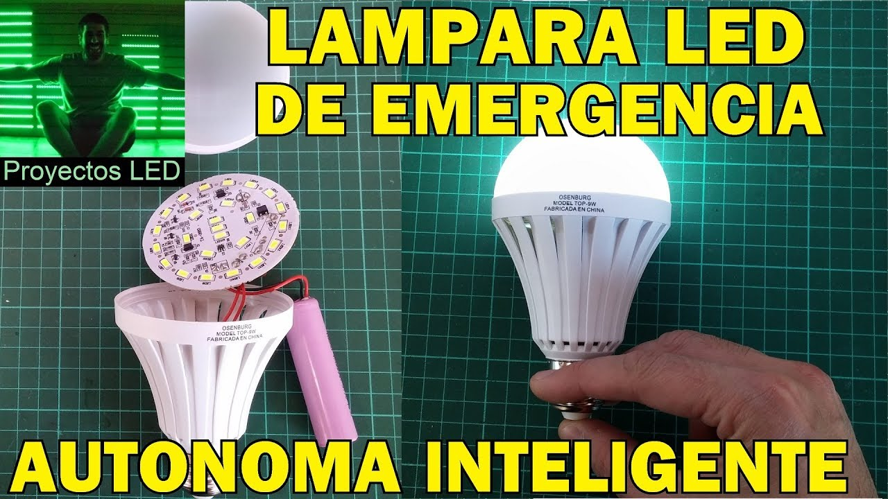 Lampara led autonoma inteligente de emergencia youtube - Lamparas es ...