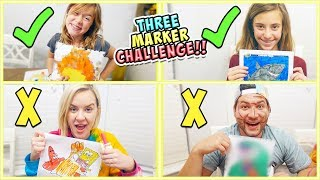 EPIC 3 MARKER CHALLENGE!! FAMILY SHOW-DOWN