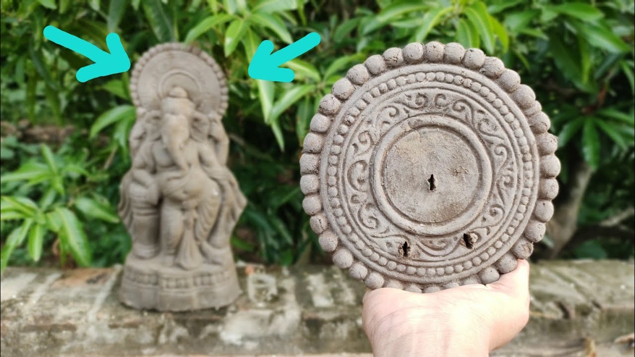 Repeat ganesh design !! How to make a chakra in clay at home