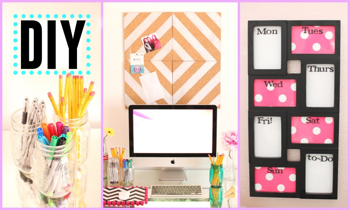 DIY Back to School Room Decor   Organization    YouTube. Diy Organizing Ideas For Bedrooms. Home Design Ideas