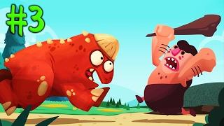 ДИНОЗАВРЫ ПРОТИВ ЛЮДЕЙ [3] Игровой мультик про динозавров для детей Игровое видео по игре Dino Bash