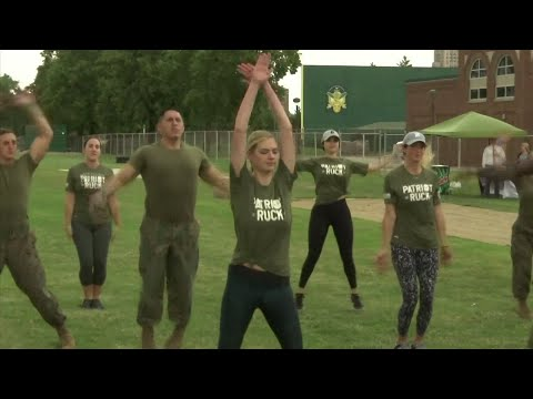 Kate Upton trains the Marine way