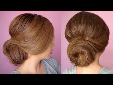 easy chignon prom hair tutorial