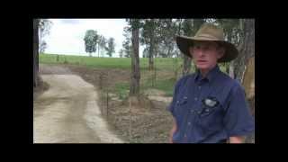 Bill Smith, Gympie, describes his new creek crossing